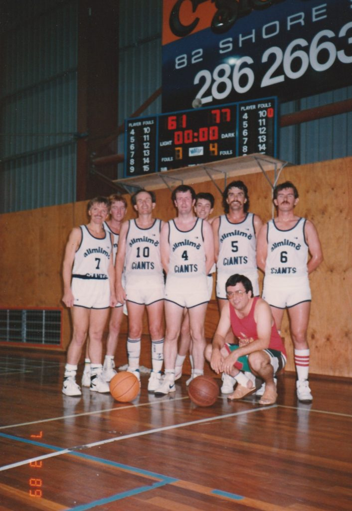 1989 Keith Buxton with Giants down in Capalaba, Brisbane